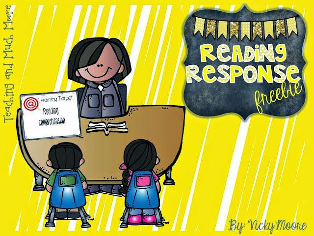 Reading Response freebie