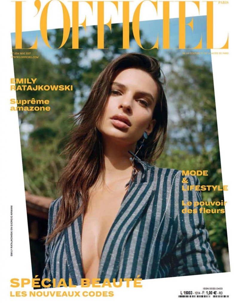 Emily Ratajkowski covers L'Officiel Paris May 2017