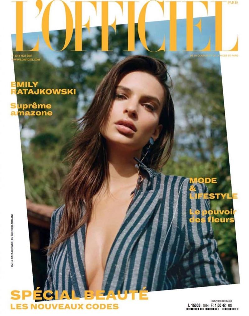 Emily Ratajkowski covers L'Officiel Paris May 2017