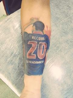 """Tatuaje de El """"Chino"""" Recoba"""