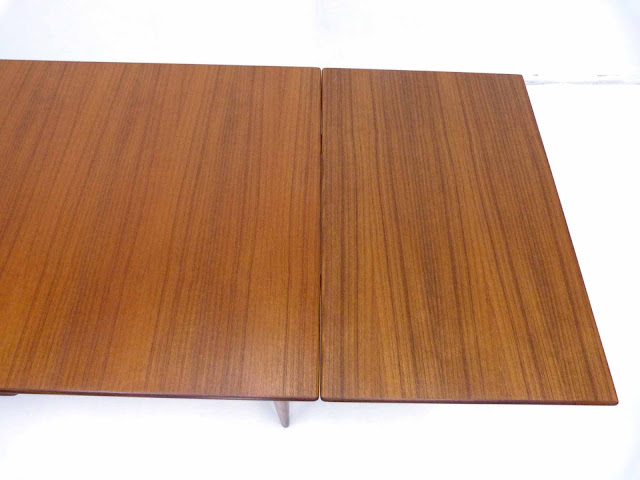 J.O. Carlsson Swedish Teak Draw-Leaf Dining Table Top Right