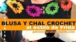 Cómo Tejer Blusa y Chal Frida / 2 Tutoriales en Español