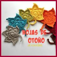 Hojas de otoño al crochet