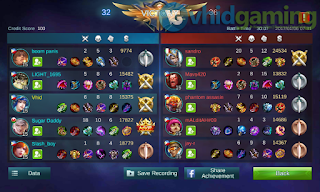 Mobile Legends: Bang bang Match Summary