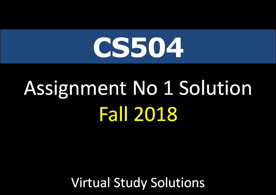 cs504 final term solved papers mega file
