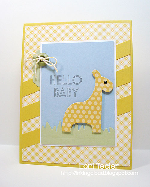 Hello Baby card-designed by Lori Tecler/Inking Aloud-stamps and dies from Clear and Simple Stamps