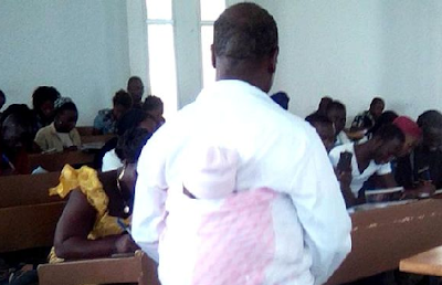 Ivory Coast Professor Who Backed Student's Baby In Class To Encourage Mothers Get Education Dubbed A Hero