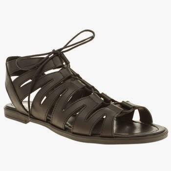 Schuh Game On Gladiator Sandals Black