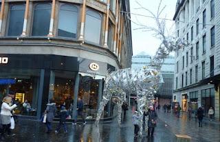 Decoración navideña de Argyle Street.