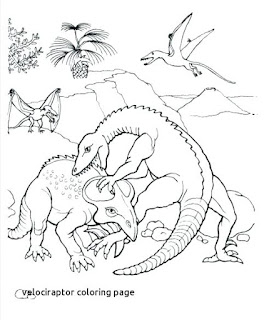 The Latest Velociraptor Coloring Pages Images