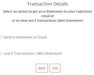 kotak 811 account statement page option