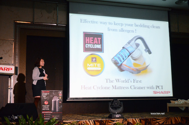 The Heat Cyclone Mattress Cleaner with Mite Catcher was introduced at the launch as well