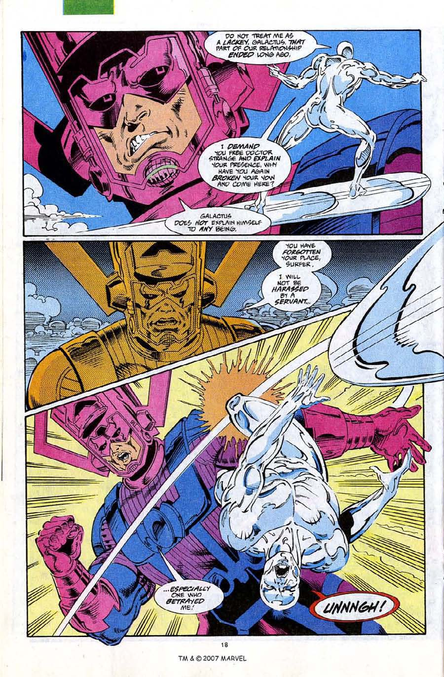 Read online Silver Surfer (1987) comic -  Issue #67 - 20