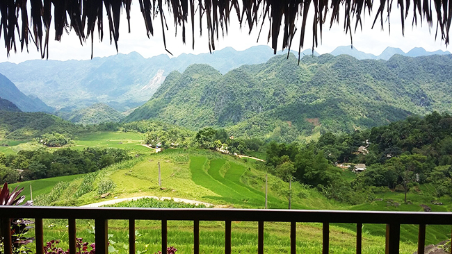 view from your Puluong Retreat room's balcony - photo by TripAdvisor traveler