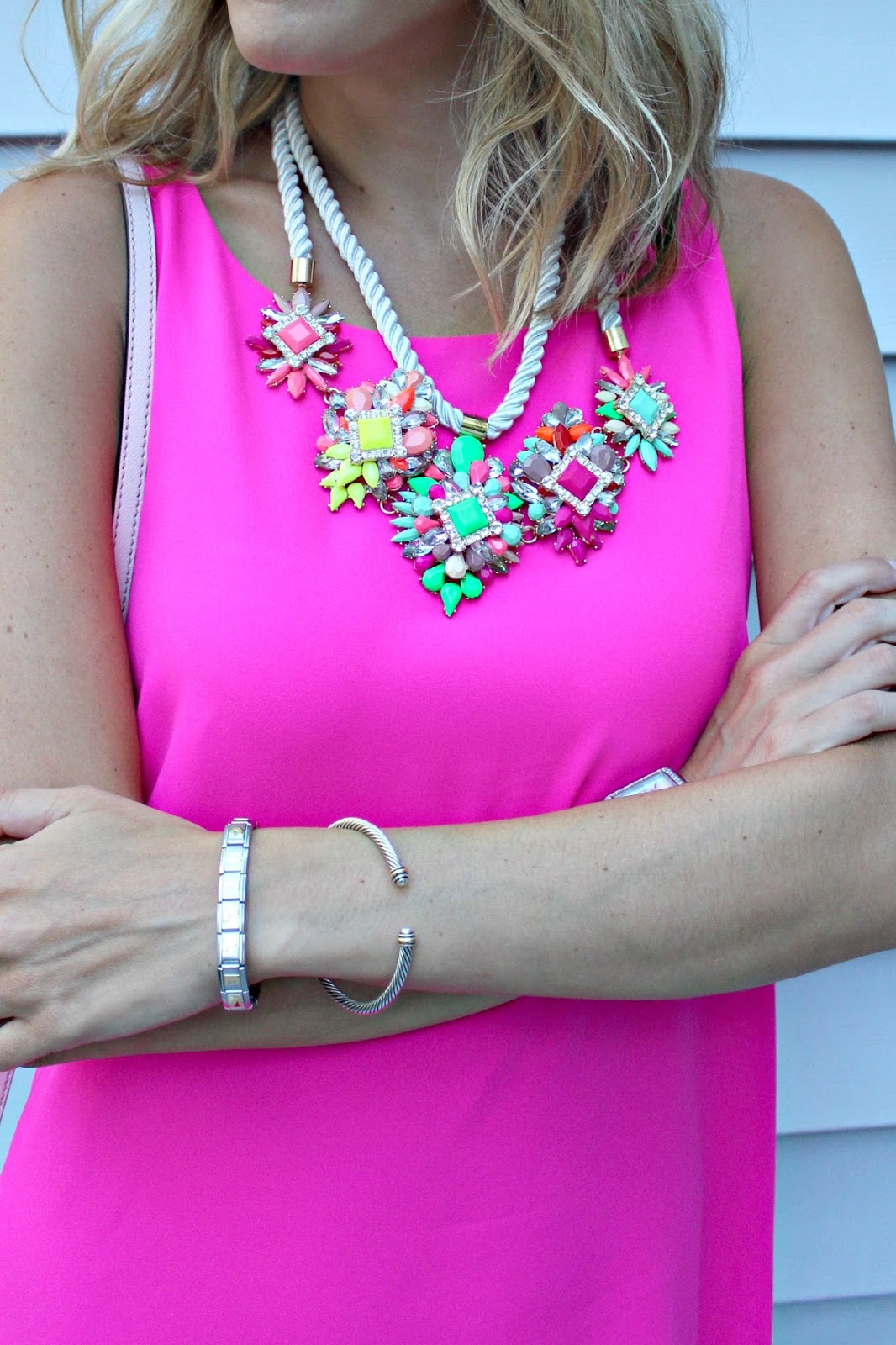 bauble bar neon statement necklace