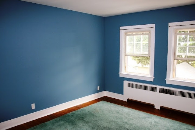 accent wall paint ideas blue