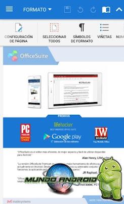 Visualización de OfficeSuite Pro + PDF