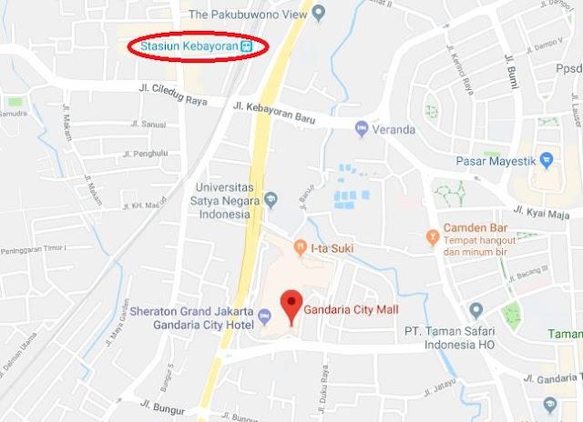 Cara Naik Kereta KRL Commuter Line ke Gandaria City