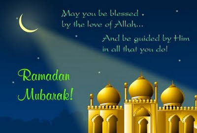 Ramadan Mubarak Wishes Cards: may you be blessed by the love of Allah