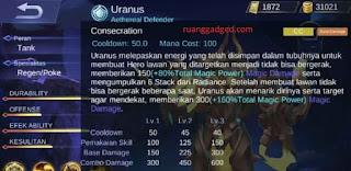 Mengenal Hero Uranus, Hero Tank Baru Mobile Legends