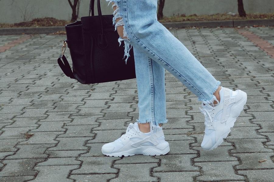 timeless design aa6e7 e62fc nike huarache białe na nogach online|Darmowa dostawa!