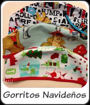 Gorros navideños de perritos