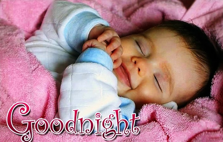 sweet good night images with baby pic