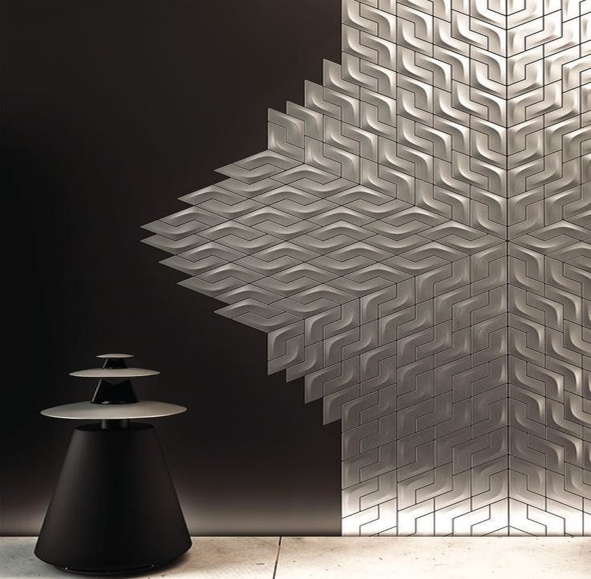 Modern 3d gypsum wall panels choice and installation for 3d wall decoration panel