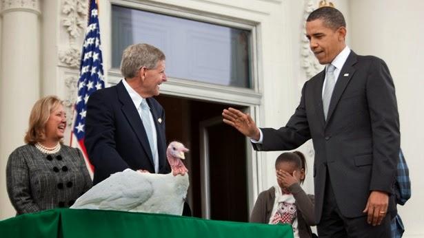 82420e8f70cc1 President Barack Obama Officially Pardons The Thanksgiving Turkey 2009