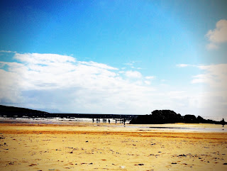 Fintra Beach silhouettes, County Donegal in August 2015