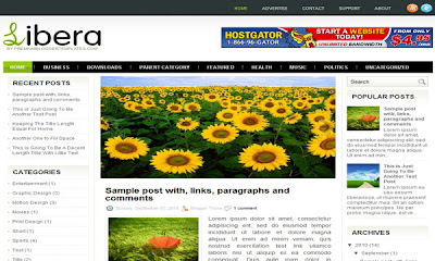 Libera - 16 Of The Best Free Blogger Templates