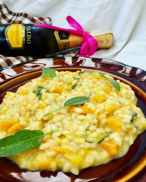 Dyniowe risotto z gorgonzolą i szałwią