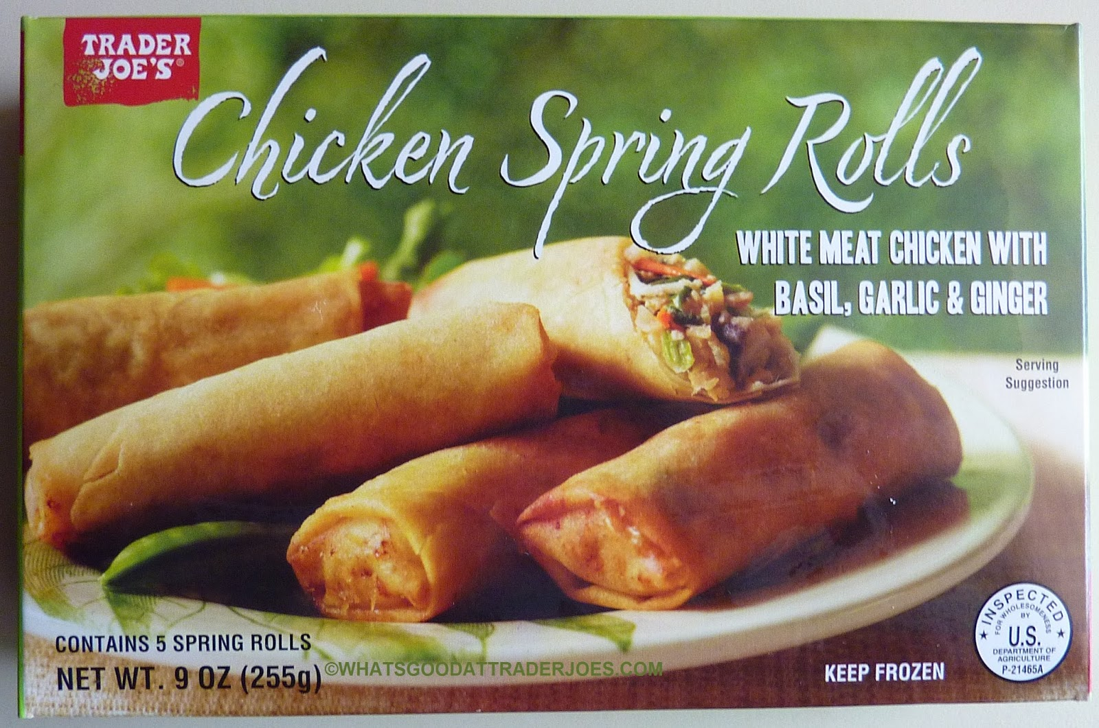 Although Not Quite As Traditionally Murican As Chicken Soup Or Chicken Pot Pie These Chicken Spring Rolls Are New To Tj S And Review Worthy So Let S Take