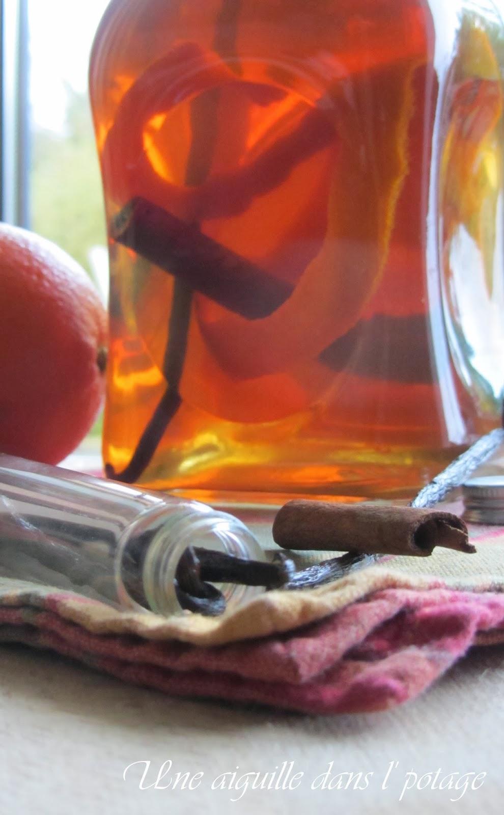 une aiguille dans l' potage: Rhum arrangé orange-cannelle