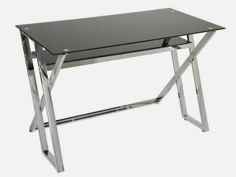mesa escritorio acero, mesa moderna despacho