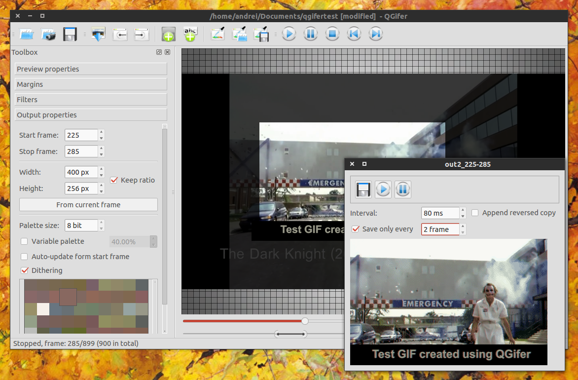 QGifer Converts Video To GIF, Supports Cropping, Adding Text
