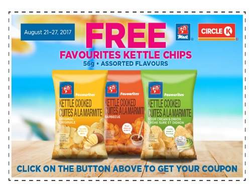 Mac's Circle K Free Favourites Kettle Chips Coupon