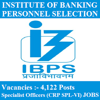 Institute of Banking Personnel Selection, IBP, Specialist Officers (CRP SPL-VI), freejobalert, Sarkari Naukri, IBPS Admit Card, Admit Card, ibps logo