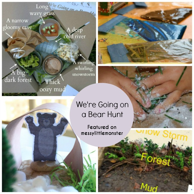 we're going on a bear hunt book activities for toddlers and preschoolers