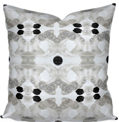 similar to eskayel pillow like lindsay cowles fabric sale brown black ink splotch watercolor pillow cover