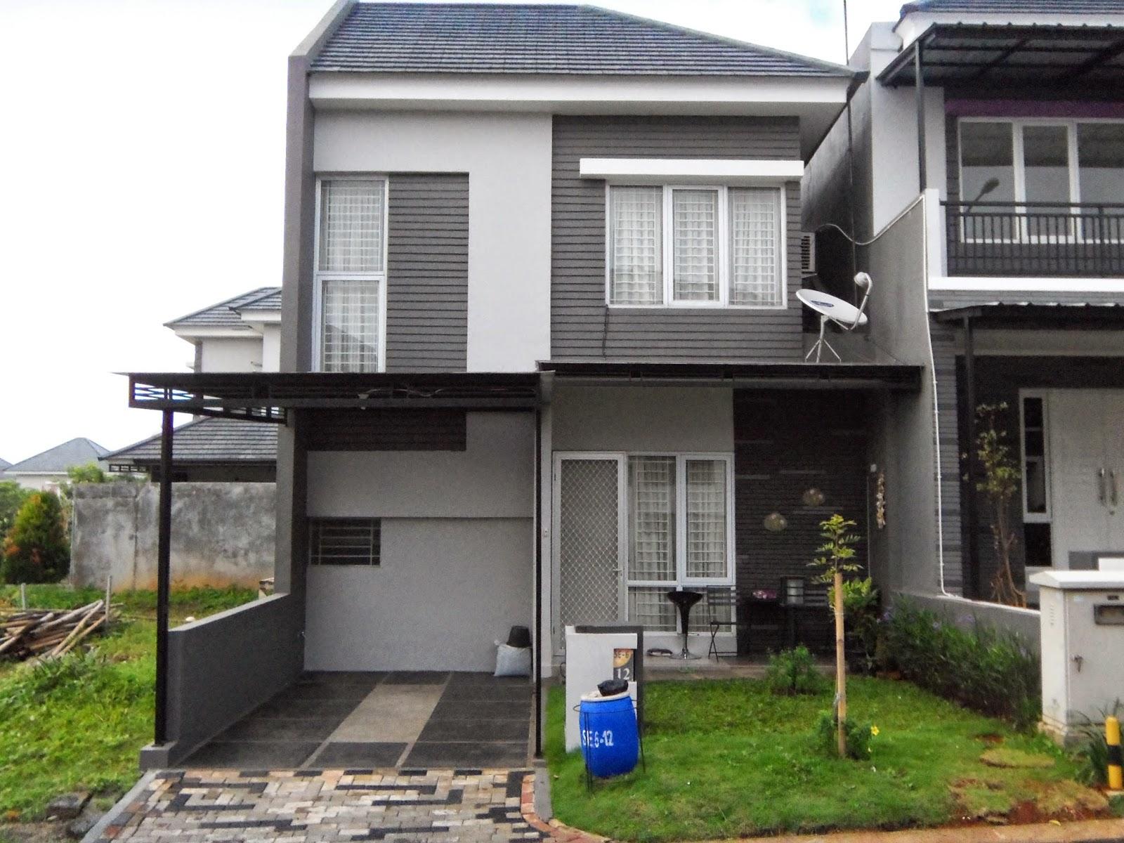 Desain Rumah Minimalis 2 Lantai Type 45 terbaik