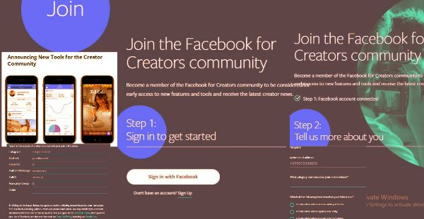 facebook for creators community page screen-short