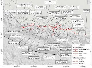 Peta gempa nasional 2017