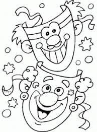 Desenhos Colorir Pintar Carnaval 2019 - Imprimir Atividades Infantis Crianças
