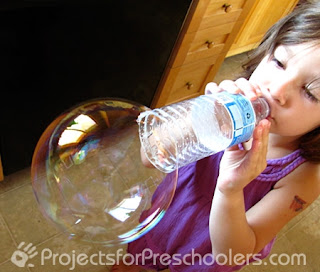 Image: Water Bottle Bubble Fun