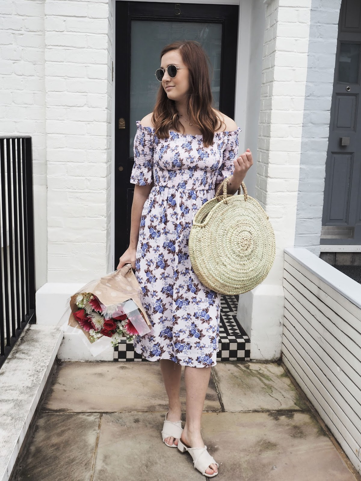 The Floral Midi Dress ft. Topshop, H&M, Bohemia Design - Lauren Rose Style - Fashion and Personal Style Blogger London // OOTD / Summer Style / Street Style Outfit