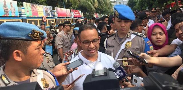 Anies Laporkan Pelaku Vandalisme Underpass Mampang Ke Polda Metro Jaya