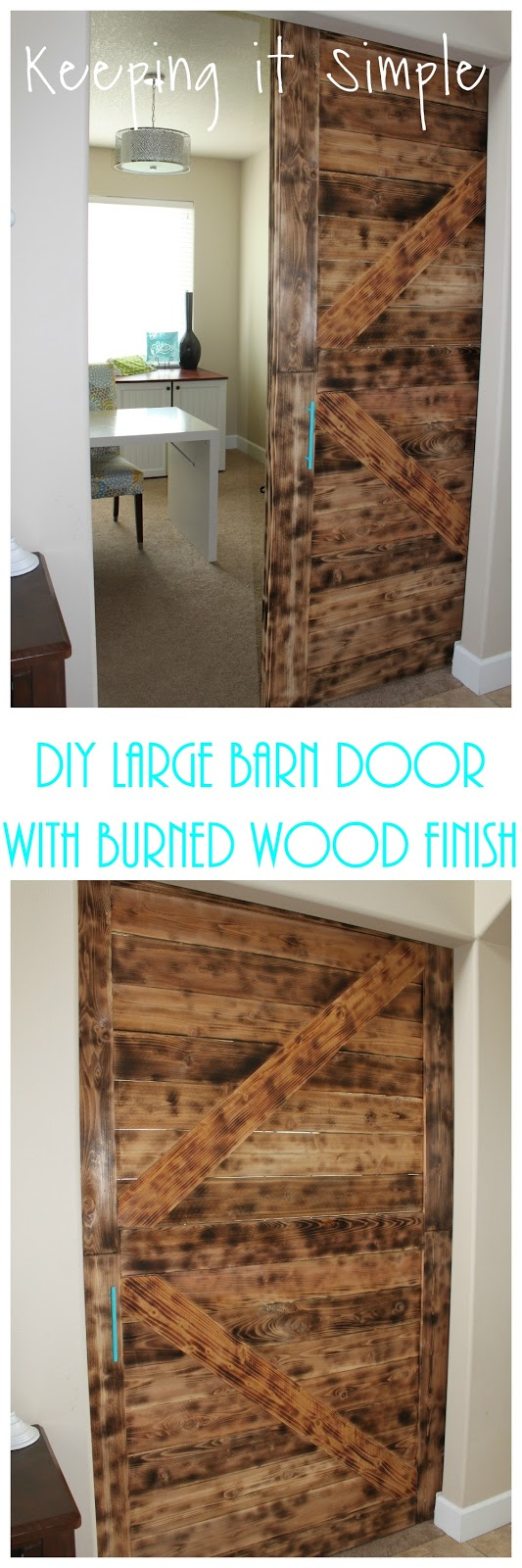 DIY Barn Door with Burned Wood Finish Perfect for Large Openings ...