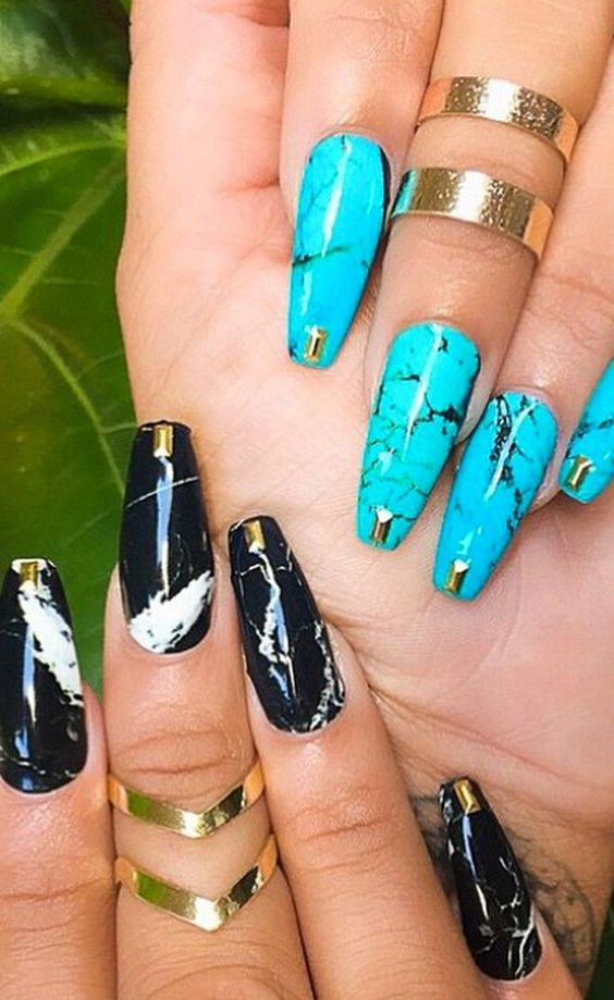 6 Magnificent Stone Nail Art Designs Non Stop Fashions