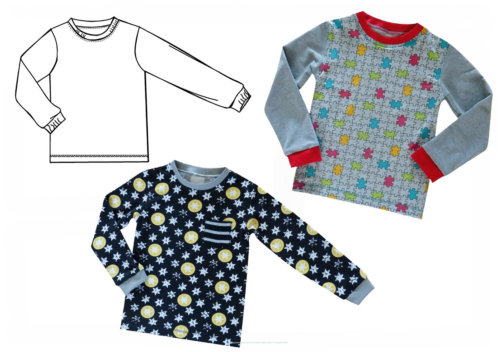 schnipp-schnapp-schnittmuster: Nähen für Anfänger : Basic Shirt ...